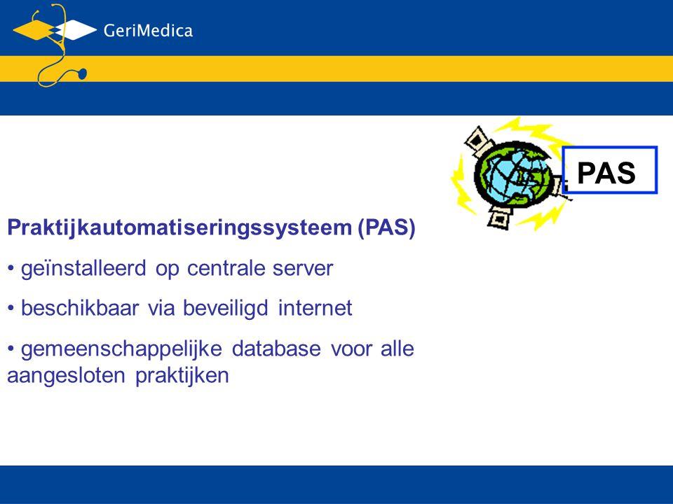 PAS Praktijkautomatiseringssysteem (PAS)
