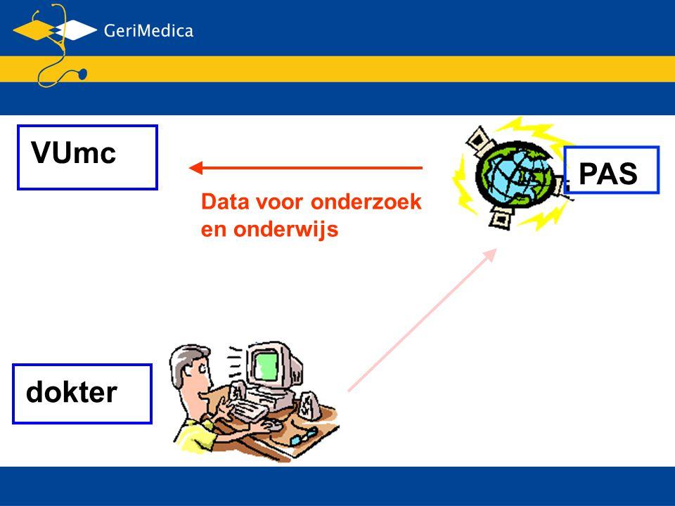 VUmc PAS Data voor onderzoek en onderwijs dokter