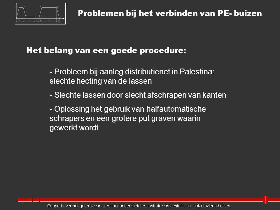 Problemen bij het verbinden van PE- buizen