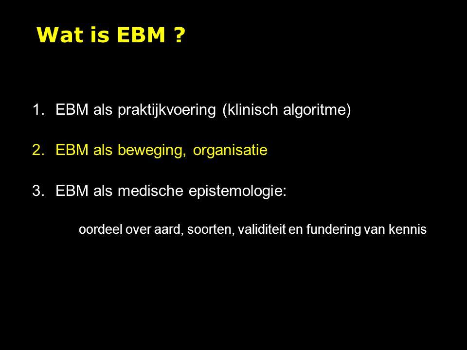Wat is EBM EBM als praktijkvoering (klinisch algoritme)