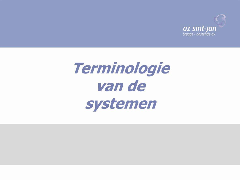 Terminologie van de systemen