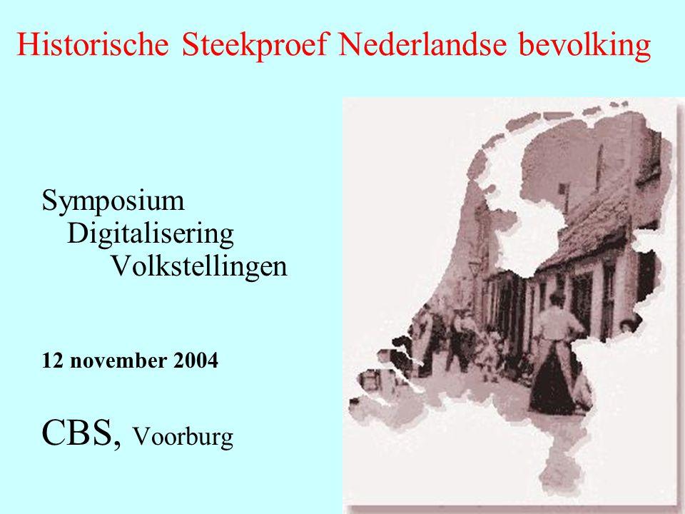 Historische Steekproef Nederlandse bevolking