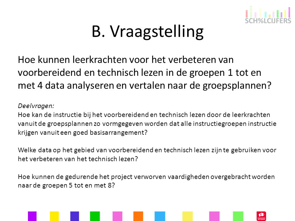 B. Vraagstelling