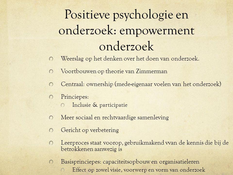 Positieve psychologie en onderzoek: empowerment onderzoek