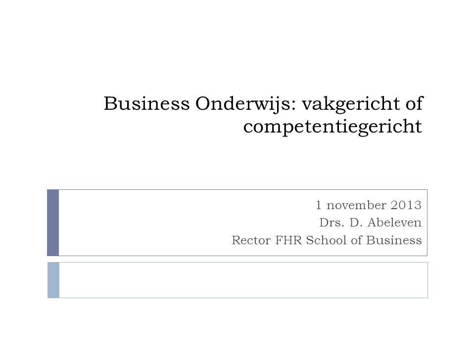 Business Onderwijs: vakgericht of competentiegericht