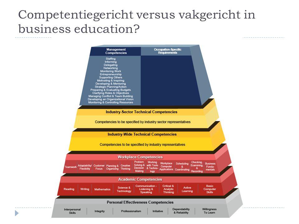 Competentiegericht versus vakgericht in business education