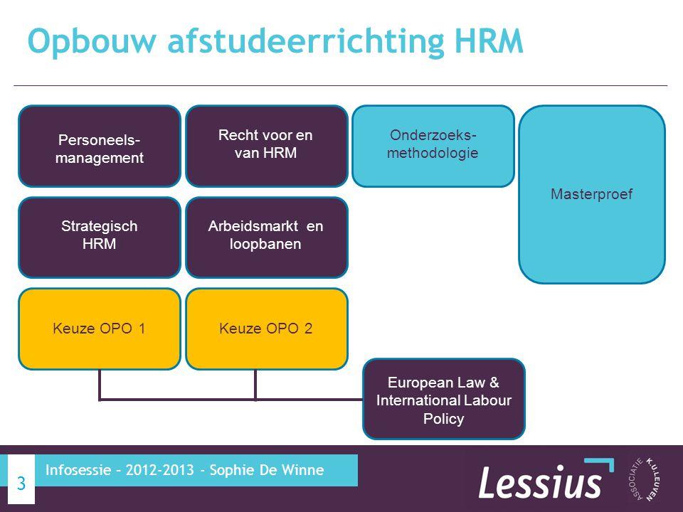 Opbouw afstudeerrichting HRM