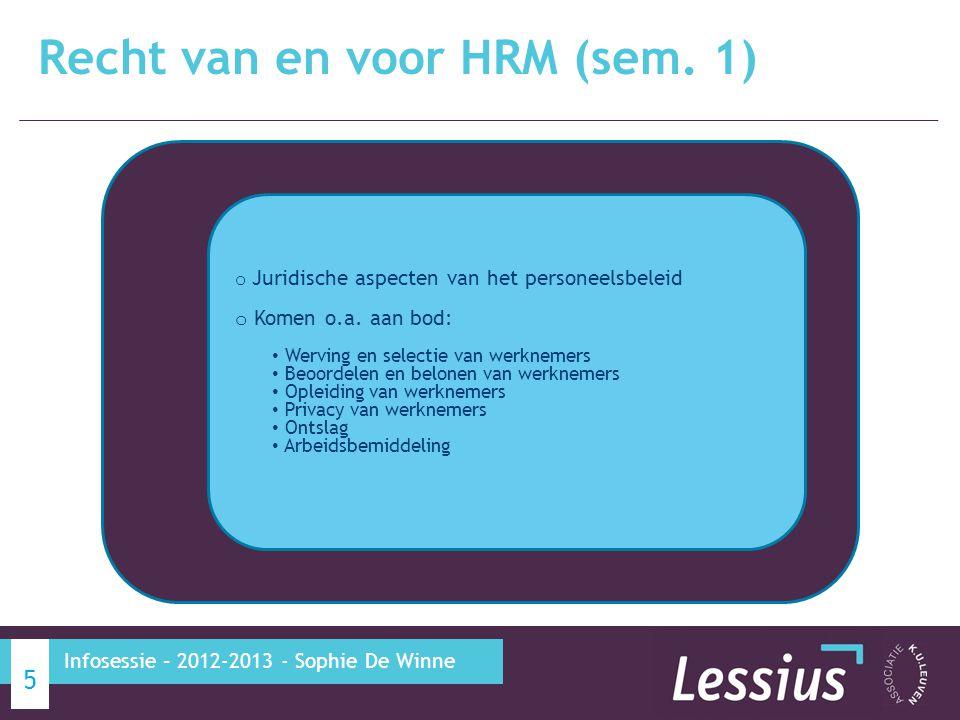 Recht van en voor HRM (sem. 1)