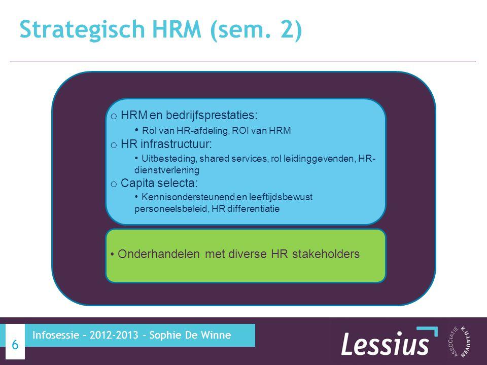 Strategisch HRM (sem. 2) HRM en bedrijfsprestaties: