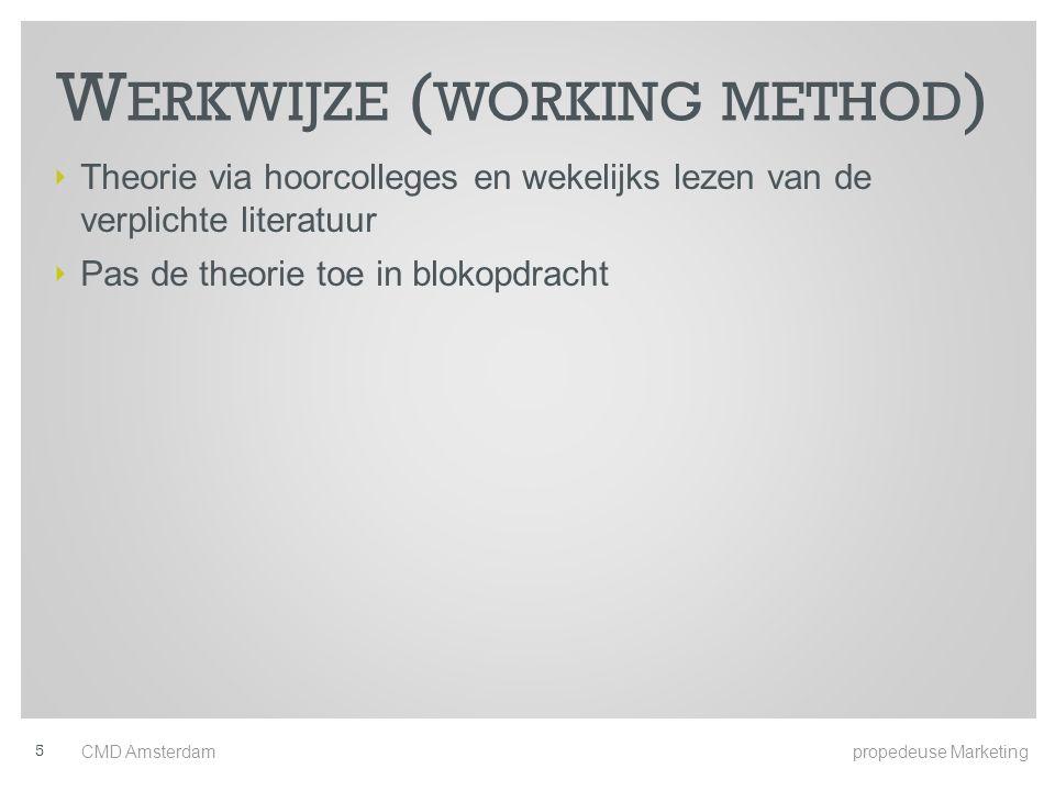 Werkwijze (working method)