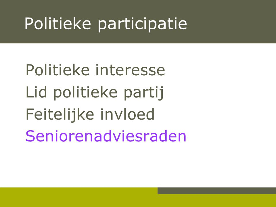Politieke participatie