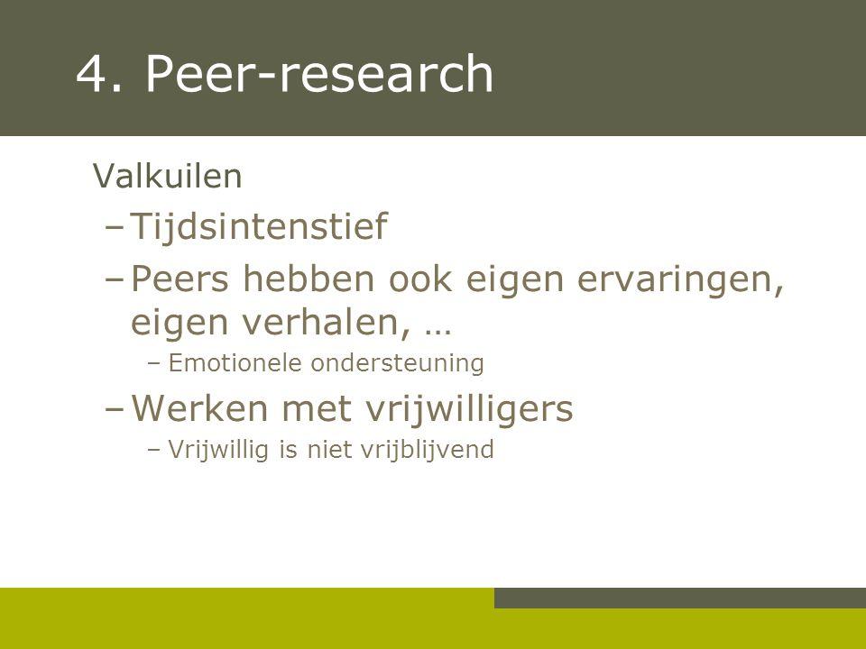 4. Peer-research Tijdsintenstief
