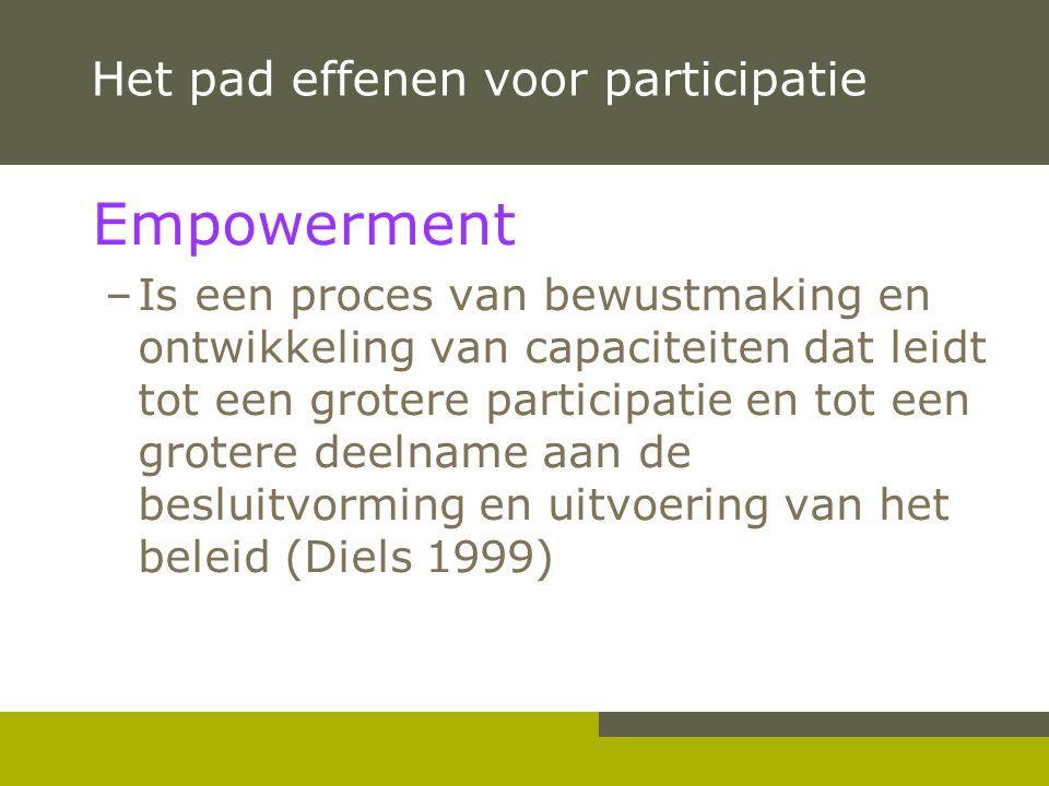 Het pad effenen voor participatie