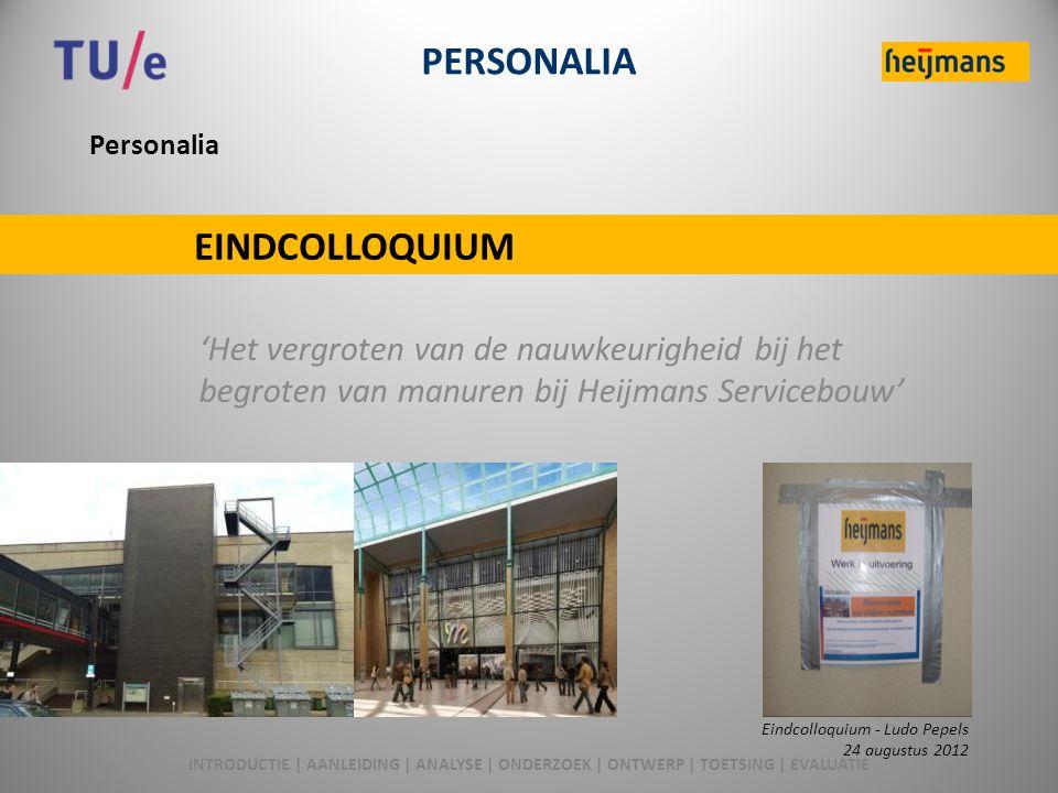 PERSONALIA EINDCOLLOQUIUM