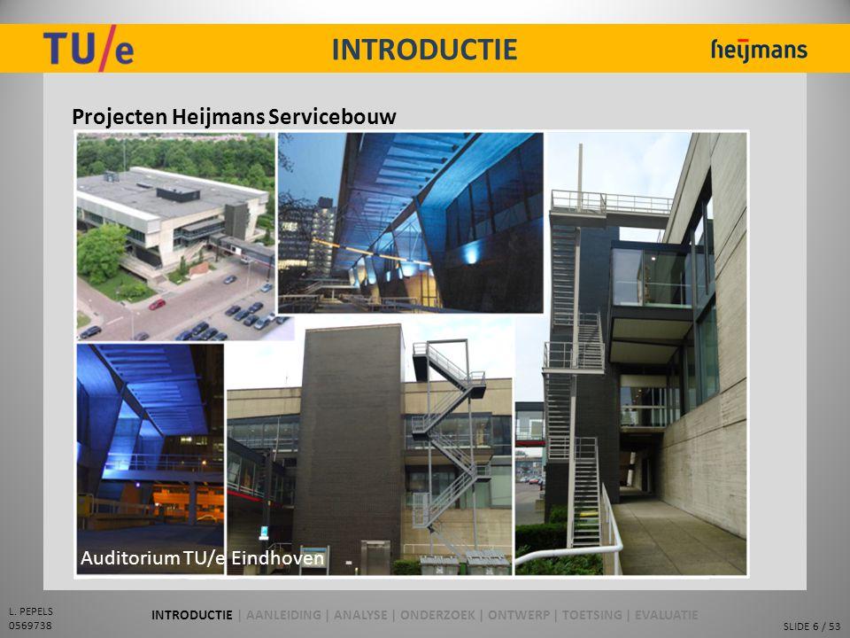 INTRODUCTIE Projecten Heijmans Servicebouw Pand NES Eindhoven