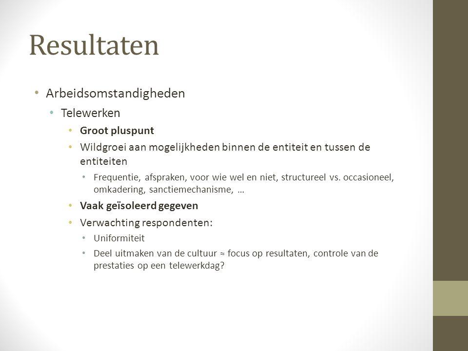 Resultaten Arbeidsomstandigheden Telewerken Groot pluspunt