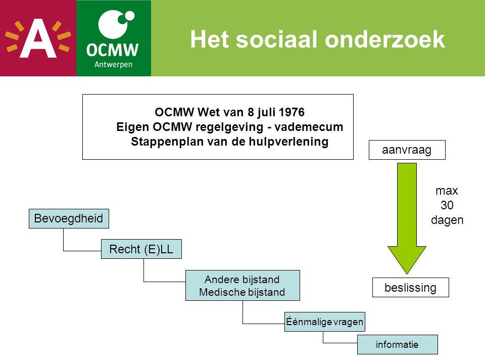 Eigen OCMW regelgeving - vademecum Stappenplan van de hulpverlening