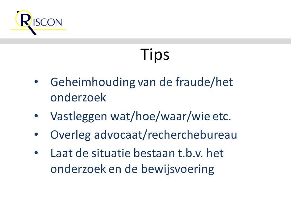 Tips Geheimhouding van de fraude/het onderzoek