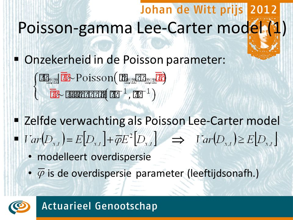 Poisson-gamma Lee-Carter model (1)