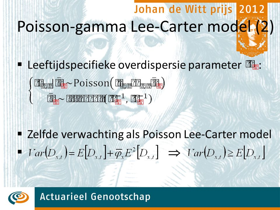 Poisson-gamma Lee-Carter model (2)