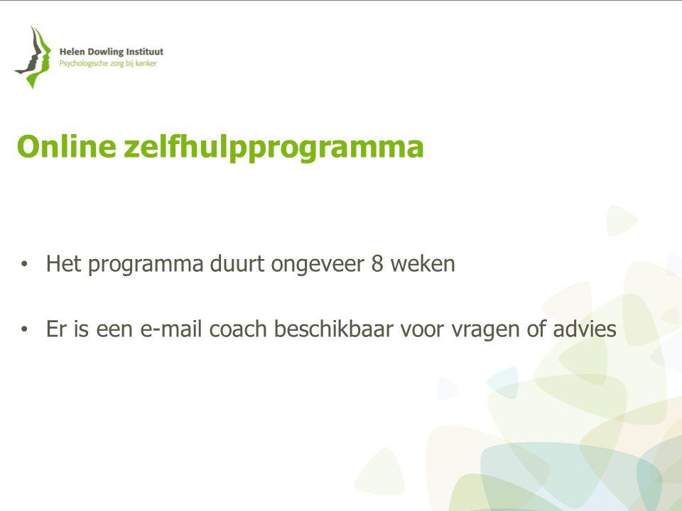 Online zelfhulpprogramma