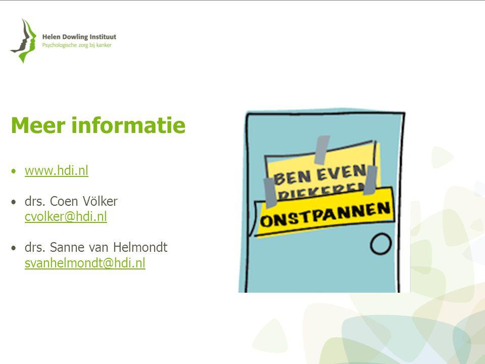 Meer informatie www.hdi.nl drs. Coen Völker cvolker@hdi.nl