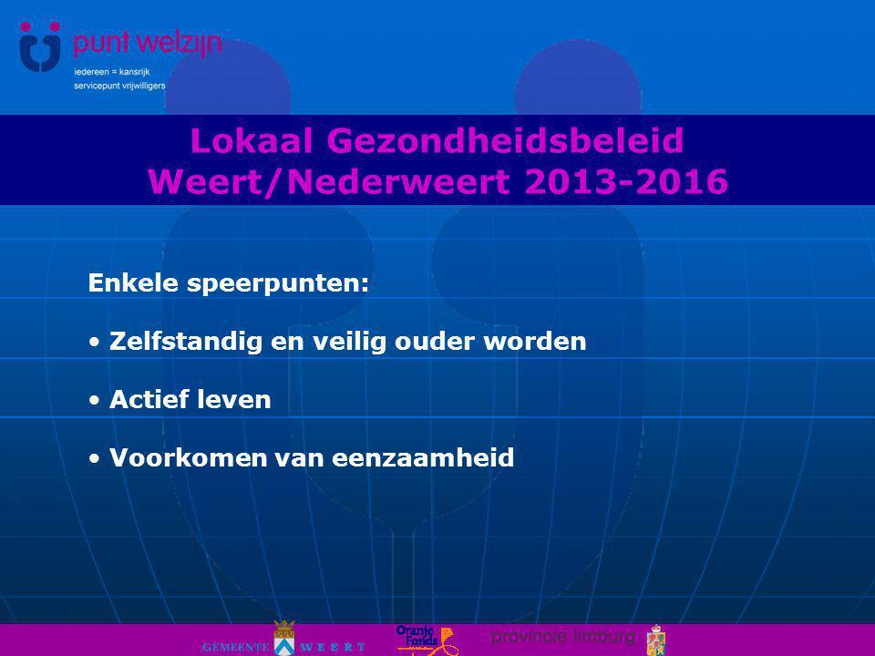 Lokaal Gezondheidsbeleid Weert/Nederweert 2013-2016