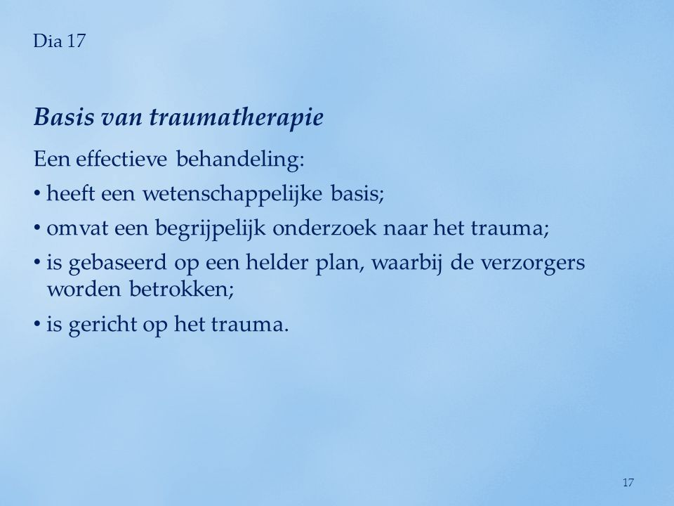 Basis van traumatherapie