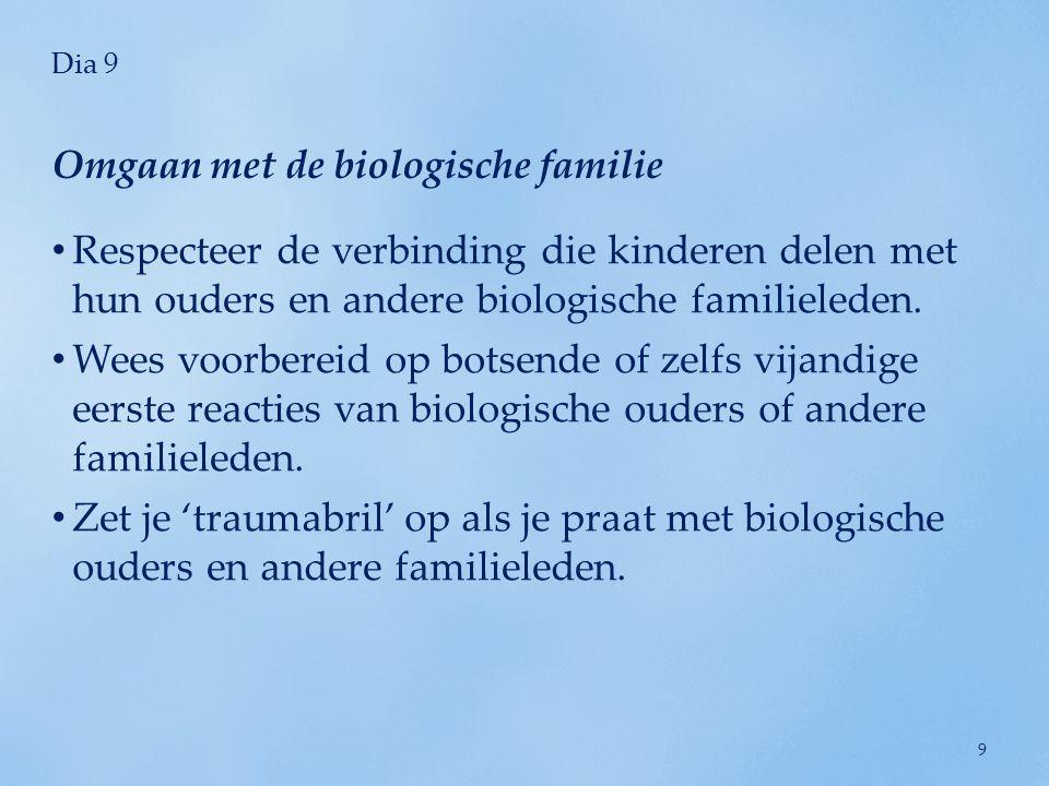 Omgaan met de biologische familie