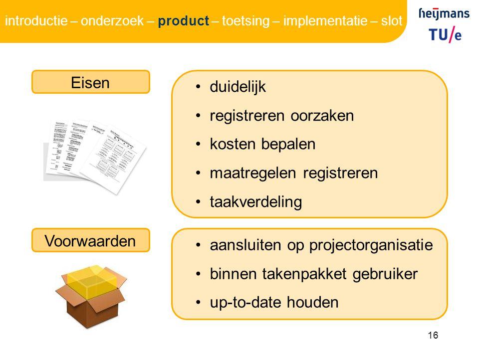 maatregelen registreren taakverdeling