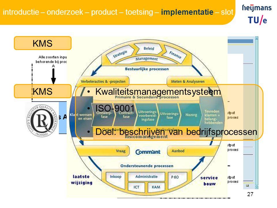 Kwaliteitsmanagementsysteem ISO-9001