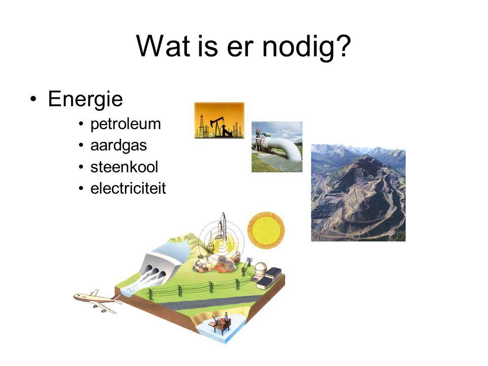 Wat is er nodig Energie petroleum aardgas steenkool electriciteit
