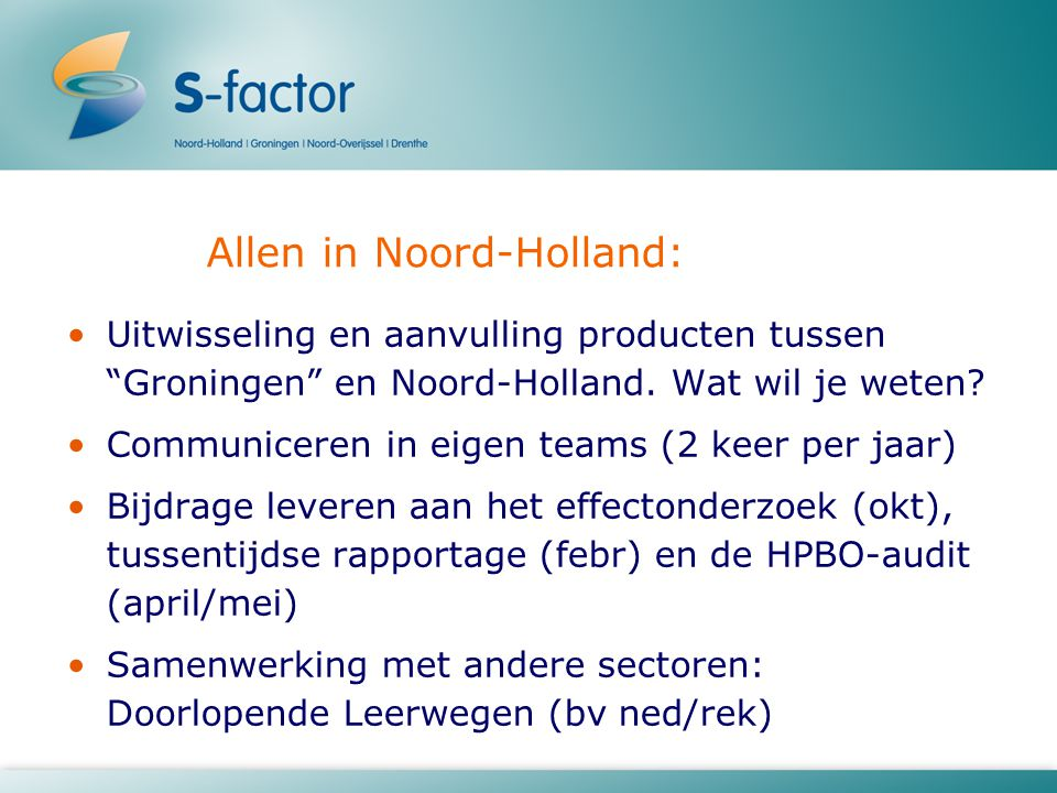 Allen in Noord-Holland:
