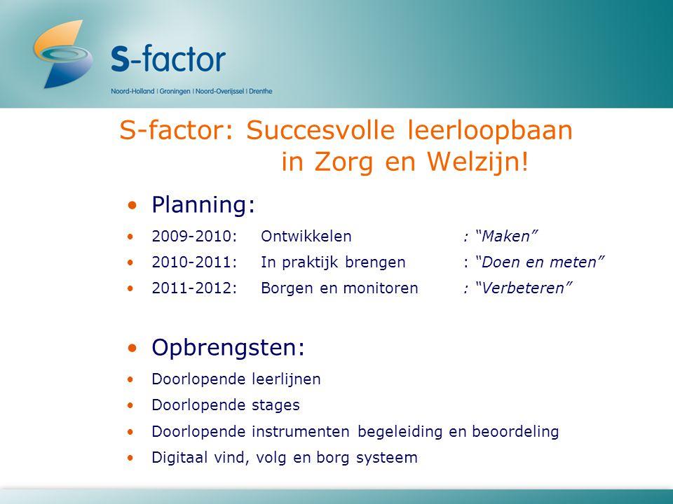 S-factor: Succesvolle leerloopbaan in Zorg en Welzijn!