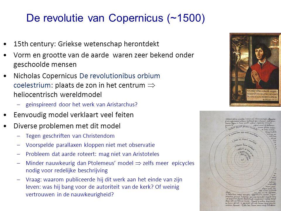 De revolutie van Copernicus (~1500)