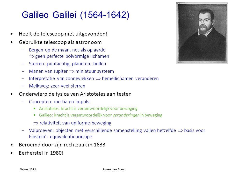 Galileo Galilei (1564-1642) Heeft de telescoop niet uitgevonden!