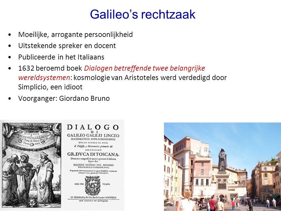 Galileo's rechtzaak Moeilijke, arrogante persoonlijkheid