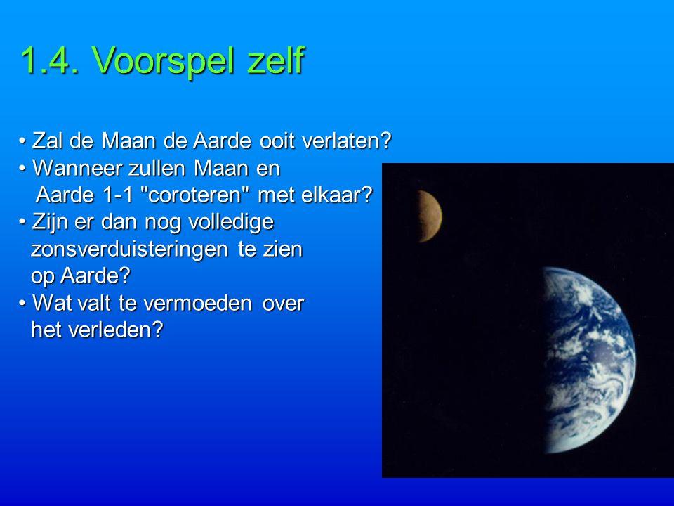 1.4. Voorspel zelf Zal de Maan de Aarde ooit verlaten