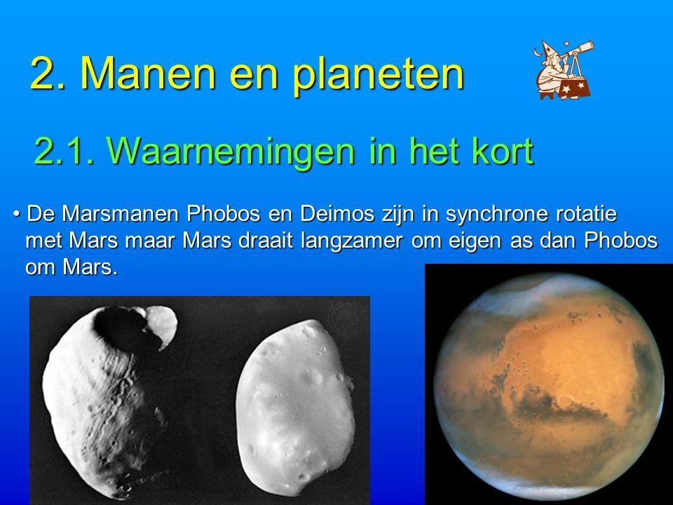 2. Manen en planeten 2.1. Waarnemingen in het kort