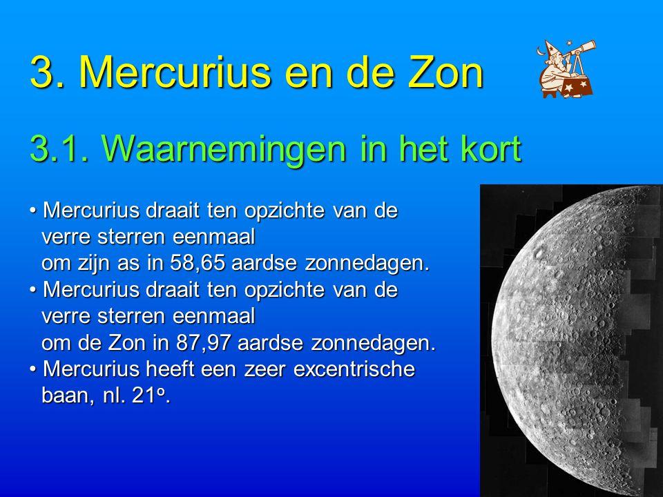 3. Mercurius en de Zon 3.1. Waarnemingen in het kort