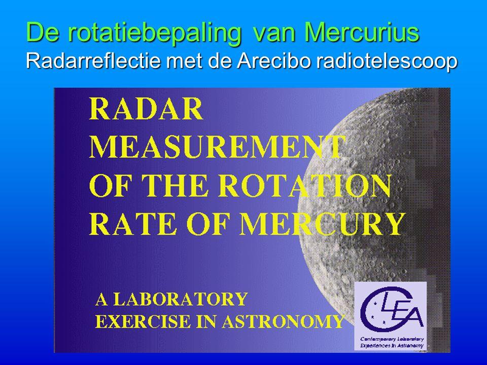 De rotatiebepaling van Mercurius Radarreflectie met de Arecibo radiotelescoop