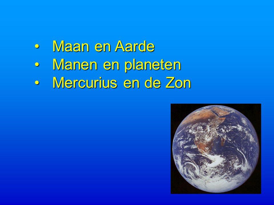 Maan en Aarde Manen en planeten Mercurius en de Zon
