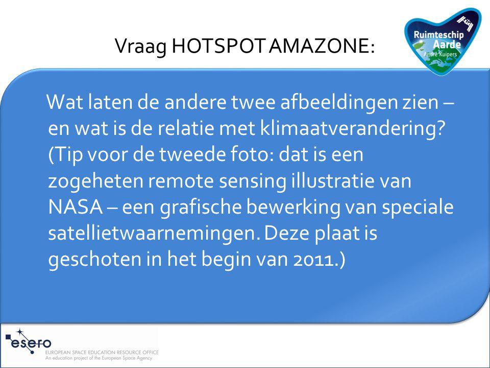 Vraag HOTSPOT AMAZONE: