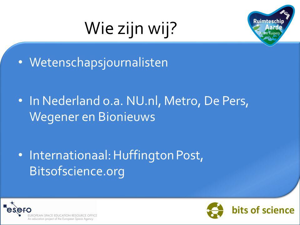 Wie zijn wij Wetenschapsjournalisten