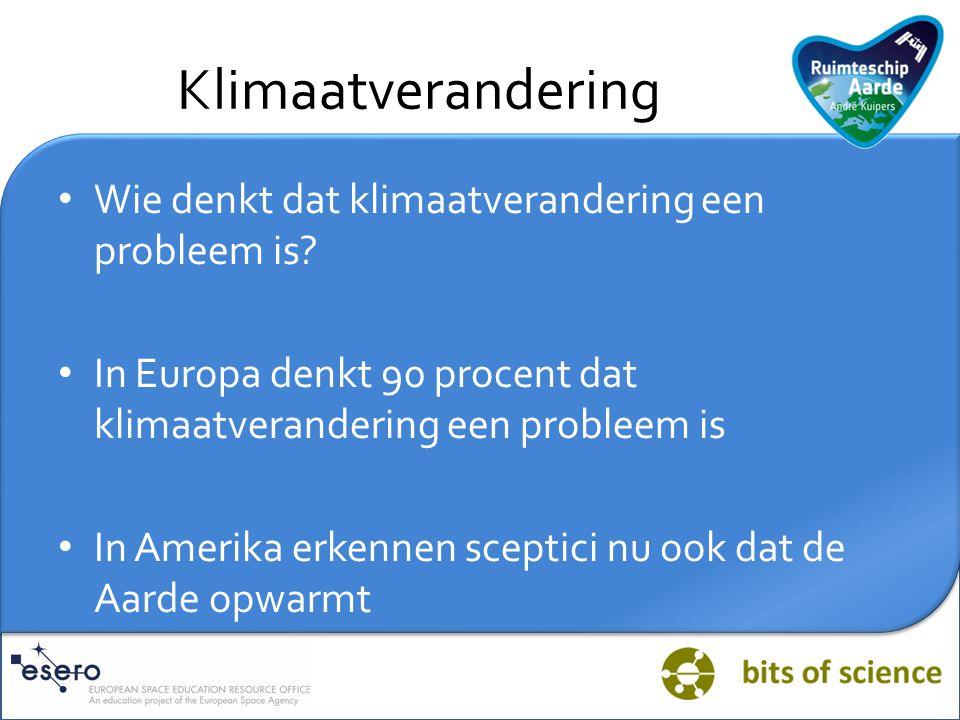 Klimaatverandering Wie denkt dat klimaatverandering een probleem is