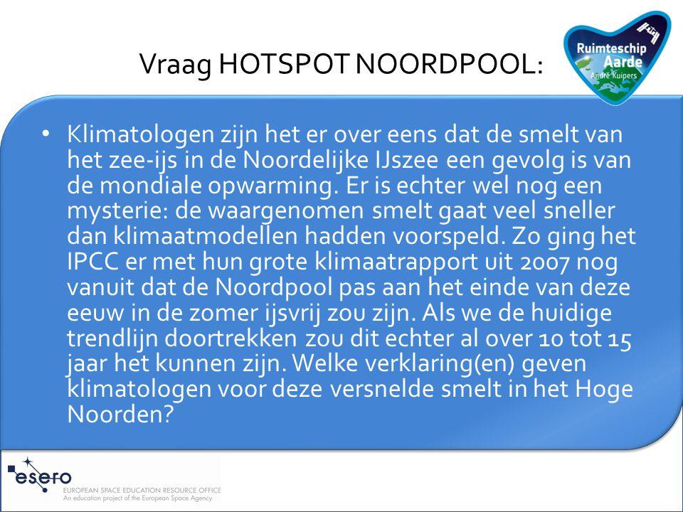 Vraag HOTSPOT NOORDPOOL: