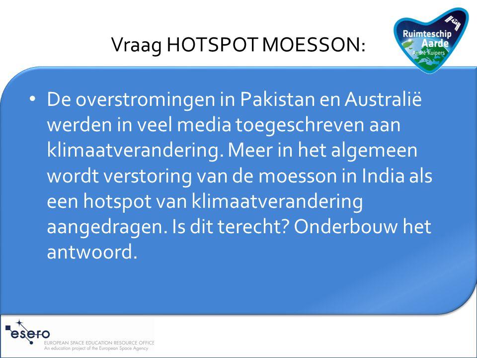 Vraag HOTSPOT MOESSON: