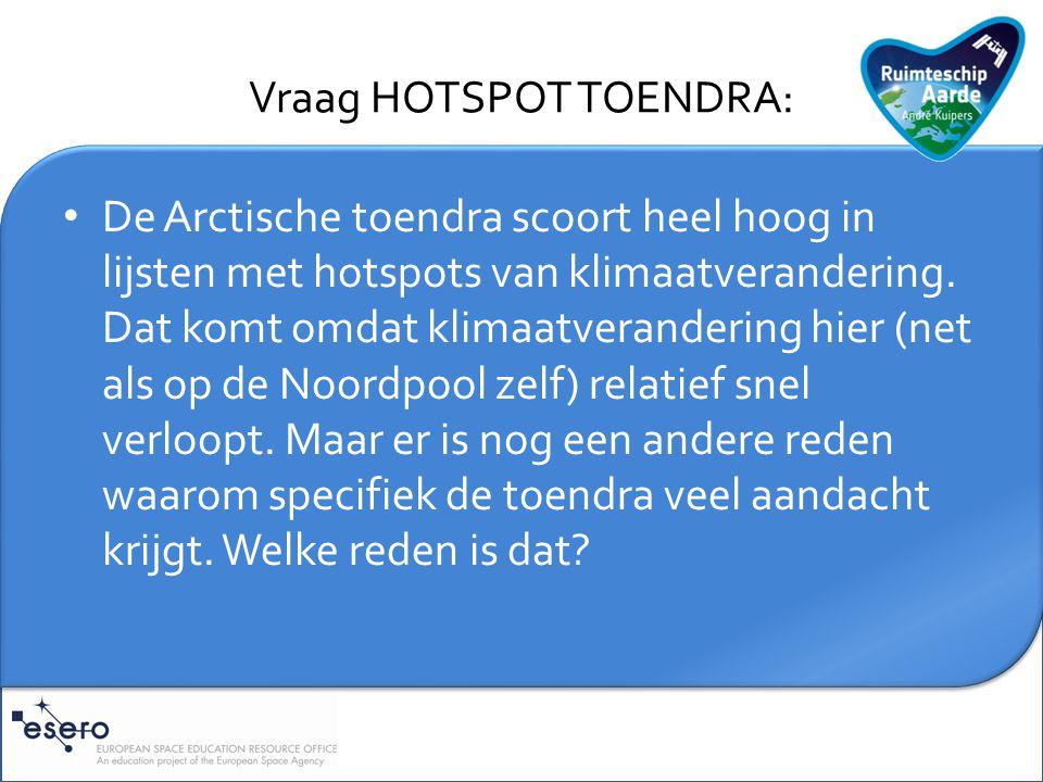 Vraag HOTSPOT TOENDRA: