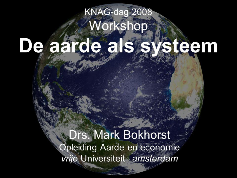 KNAG-dag 2008 Workshop De aarde als systeem