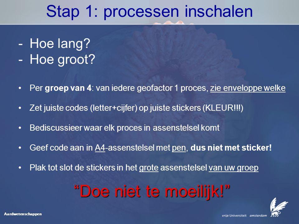 Stap 1: processen inschalen